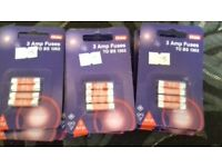 Selection of 3amp 5amp 13amp fuses