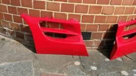 Toyota MR2 Mk2 side air vent scoop trim red diver side