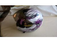 ladies/girls motorcycle helmet and gloves