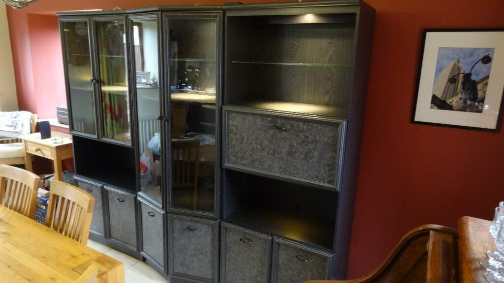 Dining Room Or Lounge Display Cabinets Glazed Led Lighting And Cupboard