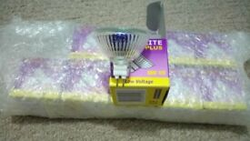Low voltage bulbs. 50w 12v. mr16 fitting