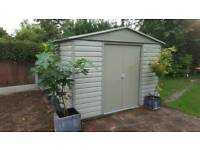 Double Door Apex Metal Garden Shed 9x7