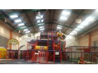 Soft play frame 3 tier including football pitch and assault course