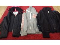 2 superdry jackets and hoody