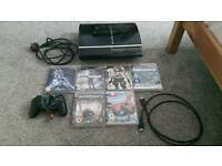 Plays tat ion 3 80g with controller and 6 games