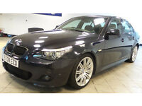 2008 08 BMW 5 SERIES 3.0 525D M SPORT 4D AUTO 195 BHP DIESEL*2 YEARS WARRANTY*FINANCE AVAILABL