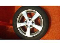 Honda Civic 16 inch alloy wheel x 1 with bridgestone tyre