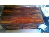 Sheesham wood chest/coffee table.