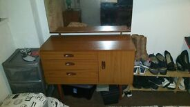 Wardrobe, Chest of drawers, Bedside table, Dressing table suite