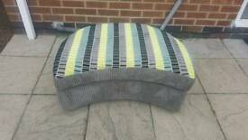 Ashley manor curved footstool