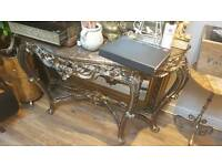 Stunning Marble Top Console