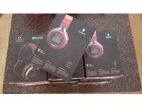 Job Lot Bluetooth Headphones...with vibrating dancing lights..Brand New