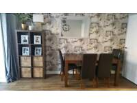 Dining room furniture table chairs sideboard shelves