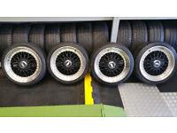 BBS 17 alloy wheels + 4 x tyres 205 40 17 PCD 4 x 108 Ford,Citroen,Peugeot,..