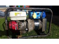 Honda 160 petrol engine generator 115/ 230 volts