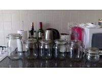 Set of 6 Glass jars - Great price