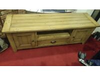 solid pine TV stand local collection only