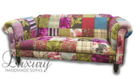 Colorful 3 or 2 Seat Chesterfield Patchwork Sofas