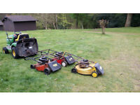 Lawnmower tow behind | triple gang | 52 inch cut | light | easy to maintain