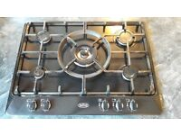 5 ring gas hob, black, excellent condition