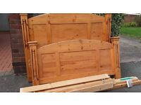 solid pine double bed good condition can deliver