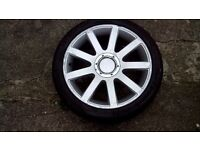 Audi ,VW, 18 alloy with good tyre 235 40 18 , 6mm