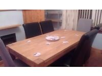 Full size Homebase dining table and 6 chairs, only used once, new £800. £550 ono