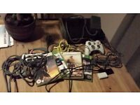 Xbox 360 20gb with leads, 4 games and headset £25