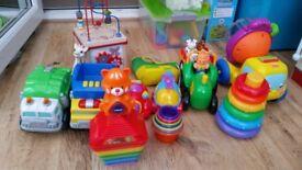 Large bundle of baby toddler kids toys