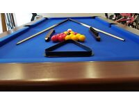 Slate Bed Pool Table with High Grade Cloth £475.00 for quick sale