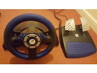 PS2 Speedster 3 driving wheel plus 4 driving games