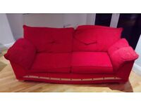 """Two three-seater sofas 80"""" x 40"""" (200 cm x 100 cm) good condition £50 each collection only Ealing"""