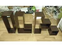 4 Next Opus Box Shelves in Dark Wood Effect