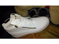 Brand New White And Gold Giuseppe Zanotti's