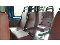 Ford transit seats of a 12 seater mini bus