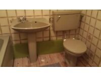 Retro green bathroom suite toilet sink bath