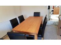 Dinning Table and 6 Leather Chairs (Excellent Condition)