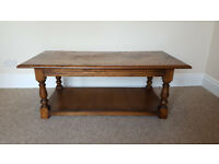 Solid Oak Coffee/Occassional table.