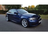 2010 BMW 1 SERIES 3.0 135i M Sport 2dr Blue With Full Cream Leather 29k Only