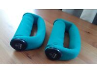 Fitness Softgrip Dumbbels Free Hand Handweights - 2 x 0.5 Kg