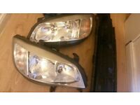 vauxhall zafira head lights