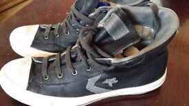 CONVERSE JOHN VARVADOS IN LEATHER AS NEW, WAS 130£ ONLY 18£!!!!! SIZE 7.5