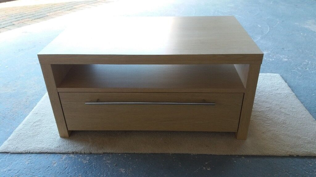NEXT Light Oak Coffee Table with drawer