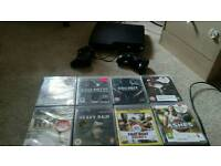 Ps3 250gb 9games two controllers..