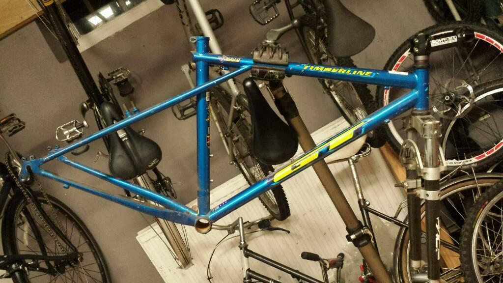 """16"""" GT steel frame bike."""