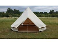 5 metre Ultimate Bell Tent, Festival, Teepee, Tipi, Wigwam, Canvas Tent