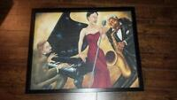 Jazz band artwork wall mounted picture