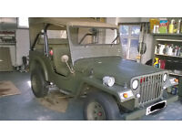 Jago Jeep (Rear wheel Drive, Q Plate, MOT until Aug 17) based on Ford Escort, Willys Jeep Replica