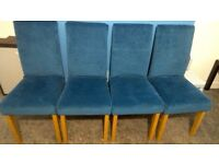 4 dinning chairs with covers