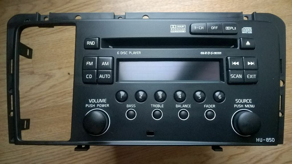 Volvo HU-850 6 CD Changer /RDS Stereo Radio Dolby Surround ...